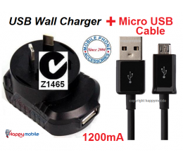 Acer beTouch Wall Charger + Micro usb Cable E110 E210 E310 E400 P400 neoTouch