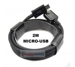 2 METER Micro USB Cable Samsung Sony Alcatel Moto HTC Huawei Vodafone Xiaomi 2M