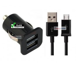 USB Car Charger + Micro Usb Cable [2.1A] DUAL PORT for Samsung, HTC, Huawei, LG, Sony Xperia, Telecom, Blackberry, Alcatel  nz