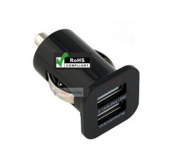 USB Car Charger for iPad iPhone iPod GPS/MP3/Gaming + Mobile Phones 2.1A + 1A = 3.1A
