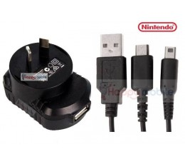 Nintendo WALL Charger + CABLE DSI DSL DS Lite DSLite 2DS 3DS NDSI NDSL