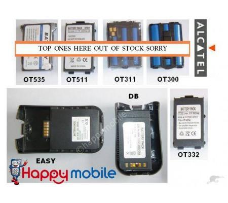 ALCATEL Battery One Touch Easy 525 332 511 DB OneTouch OT526 OT-331 BG3 BF4 BE1