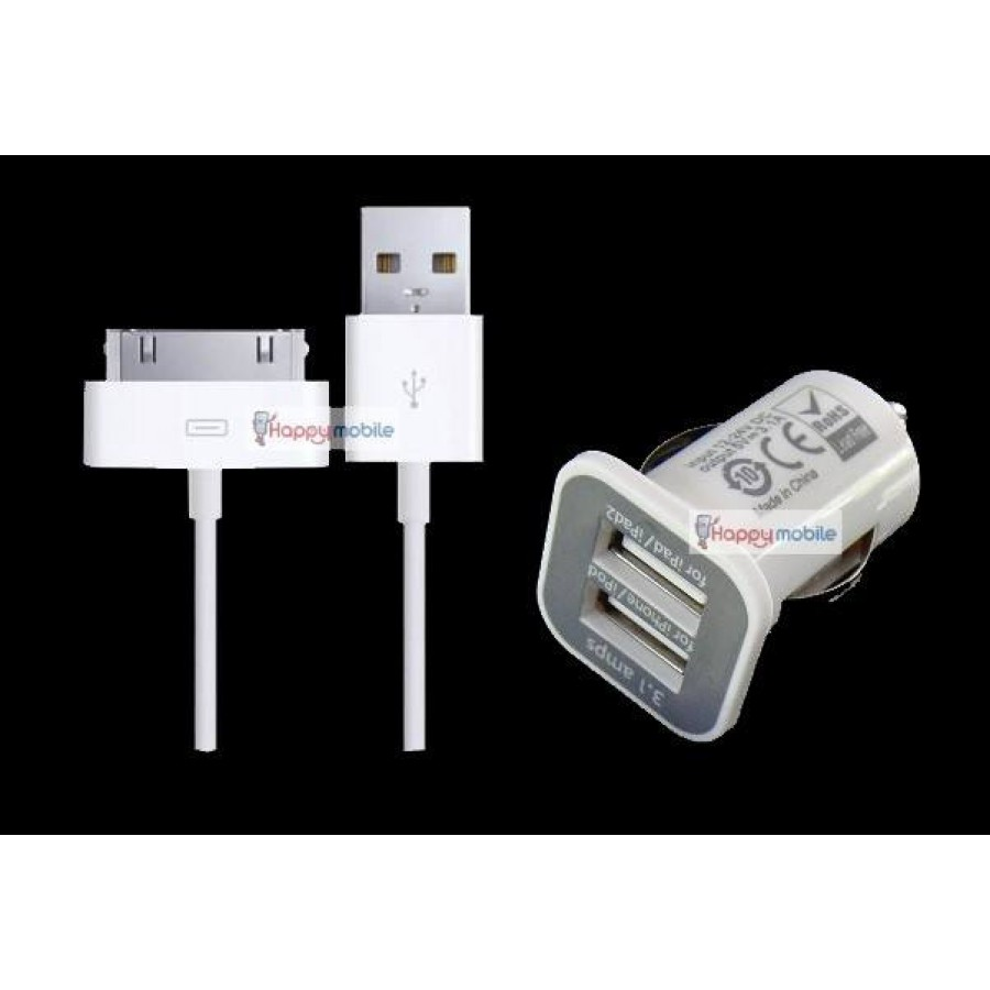 Iphone 4 4s 3gs Ipad 3 2 Ipod Touch 5th Car Charger Dual