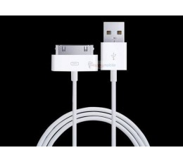 iPhone/iPod/iPad Cable WHITE 30 pin 4S 4 3GS 3 2 1 DATA/CHARGE Genuine NZ
