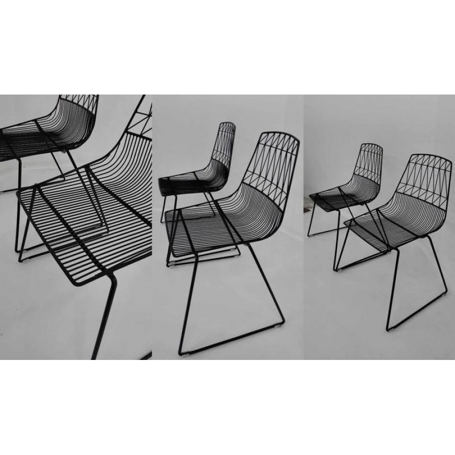 wire chair black stackable cafe wire dining chair holds 300kg