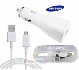 Note 4 Car Charger AFC fast + Micro USB Cable ECB-DU4EWE Genuine Samsung Set