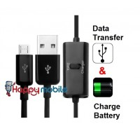 Micro Usb Cable with SWITCH for data and charge, Switchable USB Cable