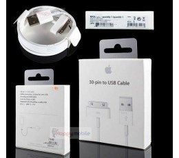 iPhone/iPod/iPad Cable WHITE 30 pin 4S 4 3GS 3 2 1 DATA/CHARGE ios9.2 9.3 Genuine NZ