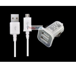 Car Charger 2 PORT 2A+1A + Micro usb Cable, Dual Port USB Car Charger