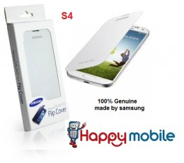 S4 Flip Case Genuine SAMSUNG Cover for i9500 i9505 i9506 EF-FI950BWESTA white