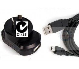 mini usb WALL Charger Motorola HTC Huawei Blackberry GPS Camera Hard Drive PS3