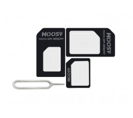 Nano SIM to Micro SIM to Standard SIM Adapters with Free Tray Ejector Tool