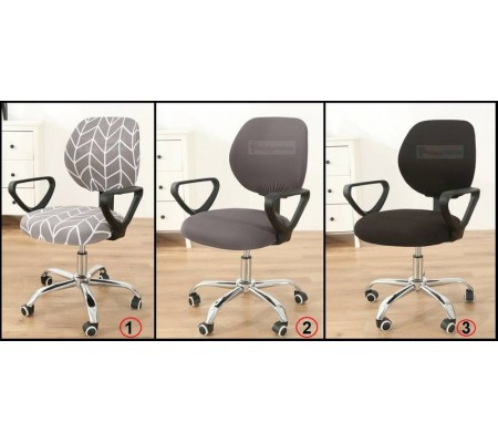 Fantastic Office Chair Cover Desk Chair Covers Slipcovers 3 Colours Grey Black Geometric Onthecornerstone Fun Painted Chair Ideas Images Onthecornerstoneorg