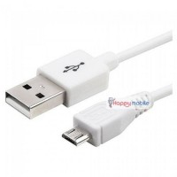 Samsung S2 Cable Micro Usb Sync & Charge WHITE  [strong] 1m MicroUsb Cable