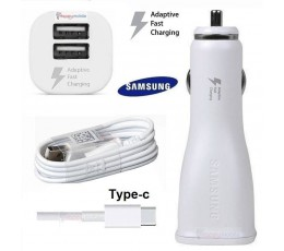 Samsung S9 S8 Car Charger AFC Dual Port +Genuine TYPE-C USB-C Cable A8 C9 Note 8