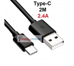 2M Type-C Cable Type C USB 3.1 to Type A 2.0 USB-C Cable 24pin 2 METER S8 S9 A8+