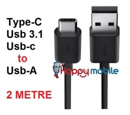 2M Type-C Cable Type C USB 3.1 to Type A 2.0 USB-C Cable 24pin 2 METRE