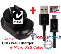 HTC One X XL S V SV 8S Z710E Z710A Desire HD C Z X S Wall Charger + Cable