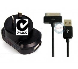 iPhone 4 iPhone 4S iPhone 3gs Wall Charger + USB 30-PIN Cable ios9.1 ios 8 ios 7