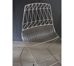 Wire Chair Chrome Stackable Cafe Electroplated Wire Dining Chair - Holds 300kg